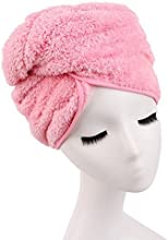 Huachnet Superfine Fiber Bow Bath Head Wrap Hair Dry Hat Pink