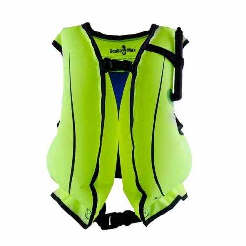Surfing Kayaking Snorkeling Snorkel Life Vest with Oral Inflator, Adult