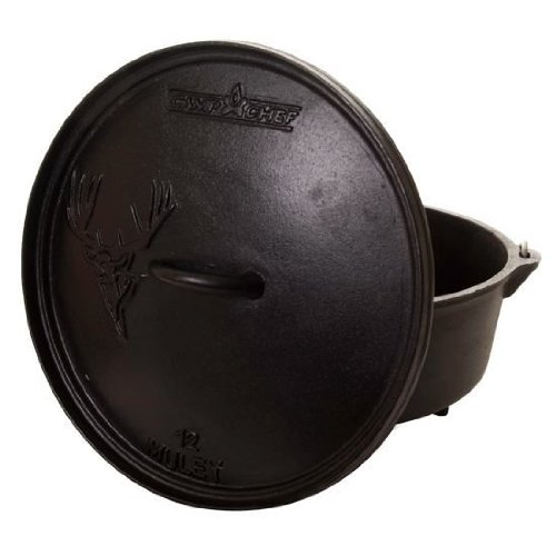 "Camp Chef 12"" Cast Iron Mule Deer Dutch Oven Sdo-12"