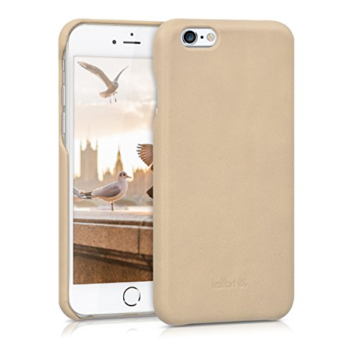 kalibri-Echtleder-Backcover-Hlle-fr-Apple-iPhone-6-6S-Leder-Case-Cover-Schutzhlle-in-Beige