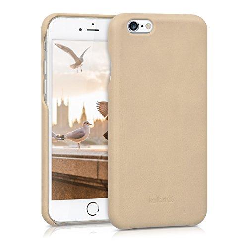 kalibri-Echtleder-Backcover-Hlle-fr-Apple-iPhone-6-6S-Leder-Case-Cover-Schutzhlle-in-Beige