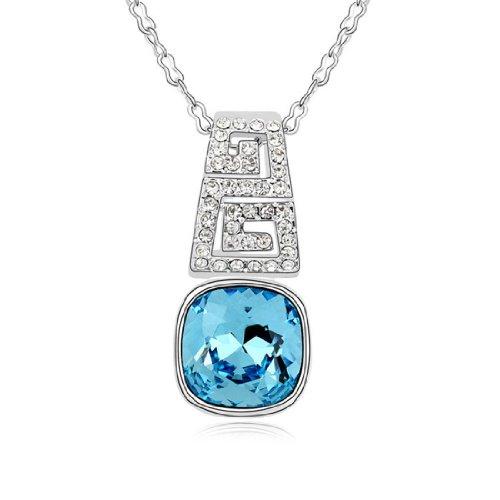 Boxingcat Fine Jewelry Swarovski Style Clear Austrian Crystal Pendant Necklaces Bgca9752 front-977782