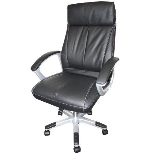 fauteuil chaise de bureau en cuir synth tique de haute. Black Bedroom Furniture Sets. Home Design Ideas