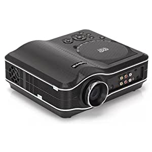 NOUVEAU Home Cinéma 40W Vidéoprojecteur LED portable - Résolution 800x600 -Support Multi Langues et Format vidéo/audio- Grand taille image jusqu'à 100'' - Haut-Parleur Stéréo intégré - USB, Jeu, TV, AV in/out - EVD DVD MP4 RMVB WMA, WAV, SD USB /S2- Business, Education, Maison