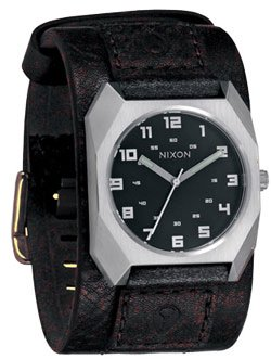 nixon-scout-leather-watch-mens-black-one-size