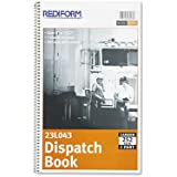 REDIFORM OFFICE PRODUCTS 23L043 Driver`s Dispatch Log Book, 7-1/2 x 2, Two-Part Carbonless, 252 Sets/Book