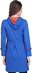 Ozel Studio Women's Regular Fit Jacket (OC-010, Blue and Orange)
