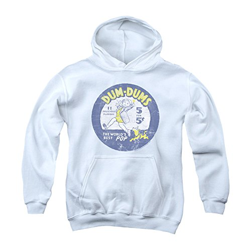Dum Dums 1950's Classic Lollipop Candy Retro Vintage Logo Big Boys Youth Hoodie