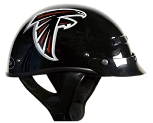 Brogies Bikewear NFL Atlanta Falcons Motorcycle Half Helmet (Black, X-Small) by Brogies Bikewear