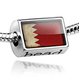 "Beads ""Bahrain Flag with a vintage look"" - Pandora Charm & Bracelet Compatible"