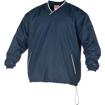 Rawlings Men's Rvnw2 V-Neck Pullover Jacket(Navy, Small)