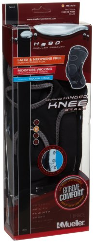 Mueller Hg80 Hinged Knee Brace, Medium, Black, 1-Count Box