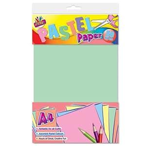 Artbox feuille papier a4 pastel lot x50 for Fourniture bureau papier