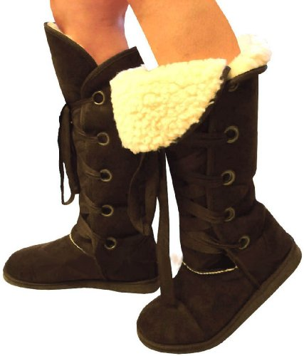 Ladies Brown Knee High Snug Nomad Boots