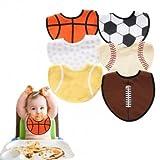 Souked Creative Sports Ball Stytle Waterproof Baby Kids Dress Bibs Pinafore
