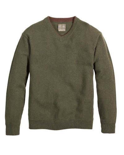 Musto Mens Shooting V-Neck Jumper (L, Dark Moss)