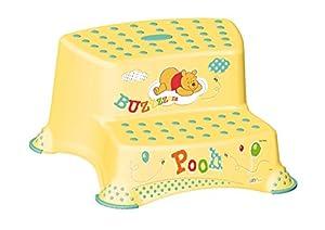 4 Set Z Winnie Pooh amarillo : INODORO Pieza sobrepuesta + Orinal niños + Taburete dos etapas +Cubo de pañales