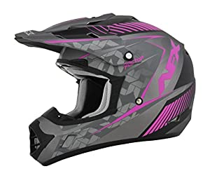 AFX FX-17 Factor Womens Motocross Helmets - Pink/Gray - Large