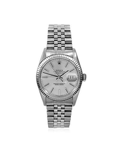 Rolex Men's Datejust Silver Stainless Steel & White Gold Watch