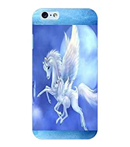 ColourCraft Flying Horse Design Back Case Cover for APPLE IPHONE 6S