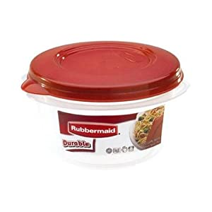 Rubbermaid HPFG4004RDCHILI Durable Round 3.2-Cup Food Storage Container