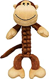 KONG Safari BraidZ Monkey, Dog Toy, Large