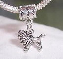 Pugs & Pandoras Poodle Dog Animal Pet Dangle Bead fits Silver European Style Charm Bracelets PP21216