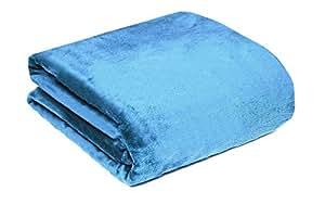200 x 220 bleu ciel xxl couvre lit plaid couverture polaire microfibre moelleux couverture plaid. Black Bedroom Furniture Sets. Home Design Ideas