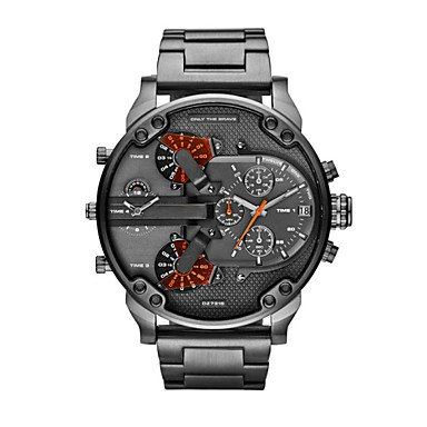 Fenkoo-Orologio Fashion da uomo, stile militare, collezione Luxury Diesel Orologio al quarzo, impermeabile Sport militari Wristwatches Orologio uomo