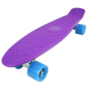 Click here to buy 22 Standard Complete Skateboard Retro Board Selectable Colors by Goldway.