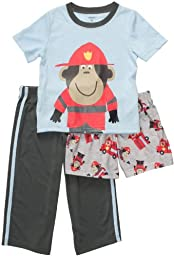 Carter\'s Baby Boys\' 3-piece Pajamas - Monkey Fireman 24 Months
