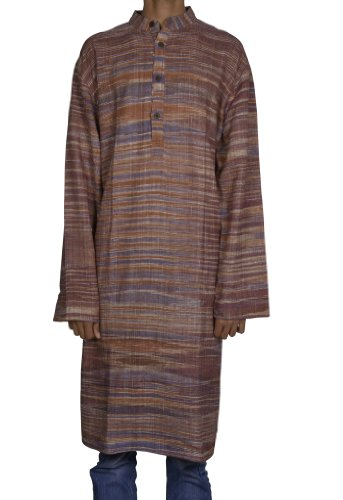 Traditional Casual Wear Indian Khadi Mens Kurta Fabric For Winter & Summers Size 3XL