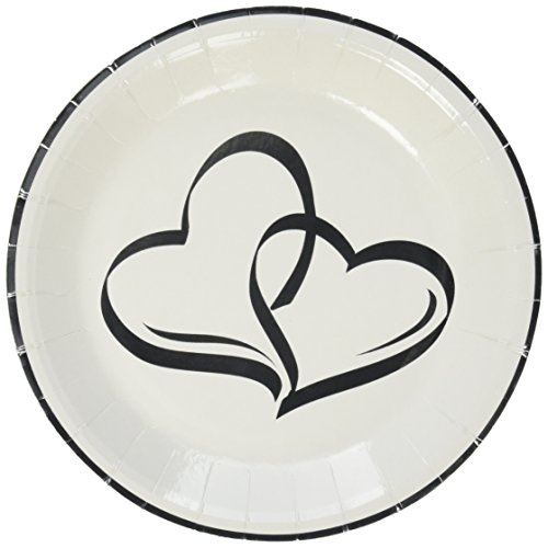 Two Hearts Dessert Plates (25 pc) by Fun Express