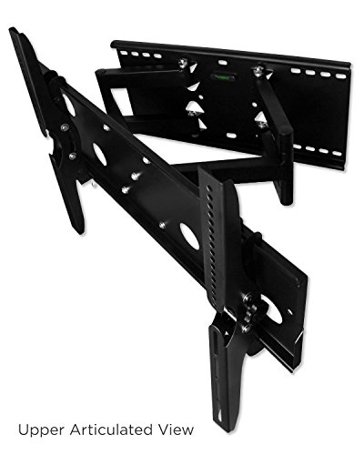 Mount-It! Mi-310L Heavy Duty Dual Arm Articulating/Swivel/Tilt Wall Mount For 40-70 Inch Led Tvs - Black front-33123