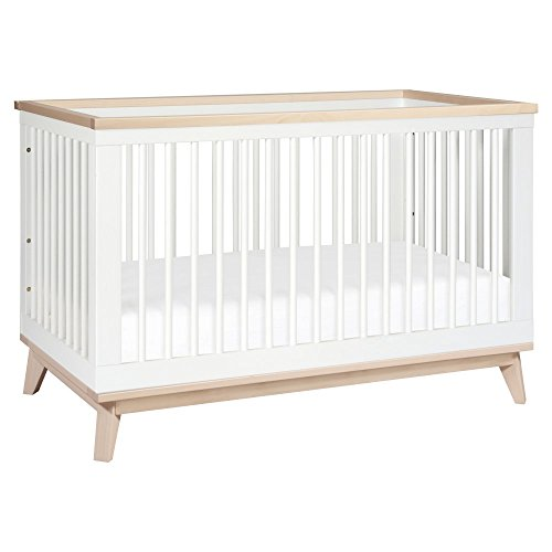 Babyletto Scoot 3-in-1 Convertible Crib, White/Washed Natural (Convertible Crib Natural compare prices)