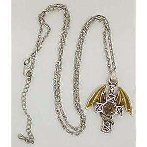 Celtic Cross Dragon Pendant & Necklace Medieval