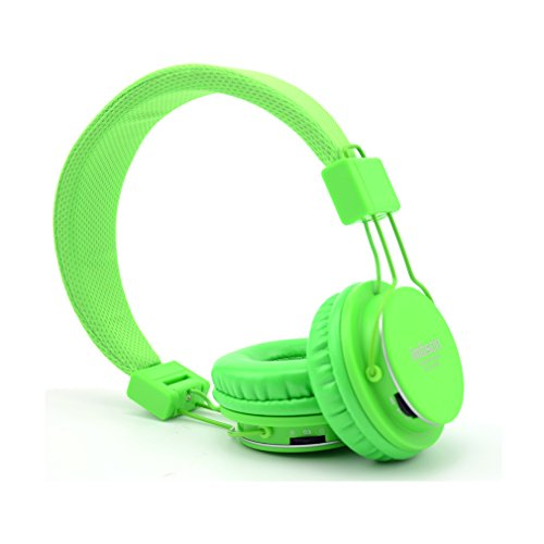 Granvela Imbson A802 Foldable Headphone Headset New Fashion Brand Music Player Wireless Handsfree Headset Headphones Earphone,Support Tf Card Fm Radio Monitor Portable Audio Pc --Light Green