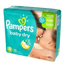 Pampers Baby Dry Size 4 Sesame Street Diapers 28 Ct (Pack Of 4) front-21870