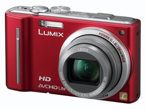 Panasonic Lumix TZ10 Digital Camera - Red (12.1MP, 12x Optical Zoom) 3.0 inch LCD