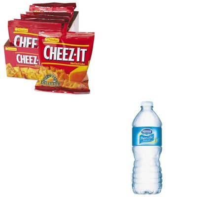 kitkeb12233nle827179-value-kit-nestle-waters-pure-life-purified-water-nle827179-and-kelloggs-cheez-i