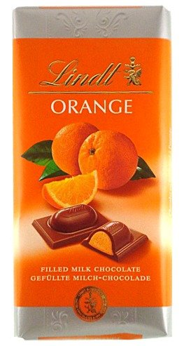 Lindt Milk Chocolate with Orange Filling ( 100 G ) (Gourmet,Lindt,Gourmet Food,Chocolate)