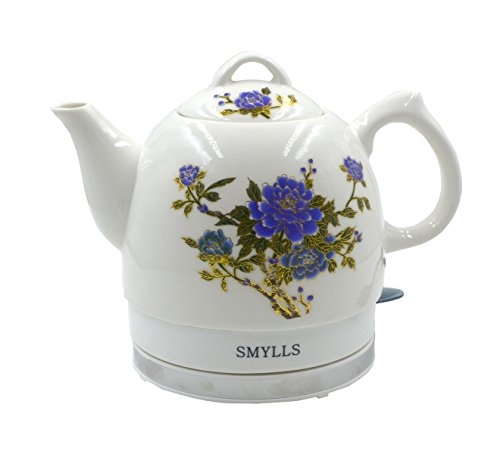 Read About SMYLLS Electric Ceramic Kettle Boiling Water Pot Coffee Teapot With Lifetime Warranty, Pe...