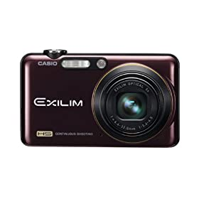 Casio EX-FC150 10.1MP High Speed Digital Camera with 5x Zoom with CMOS Shift Image Stabilization and 2.7 inch LCD (Red)