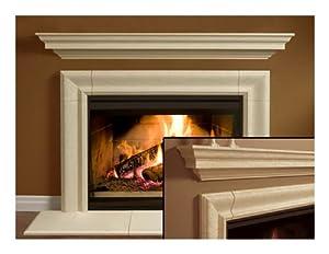 Wellington Thin Cast Stone Adustable Fireplace Mantel Kit Complete Kit Includes
