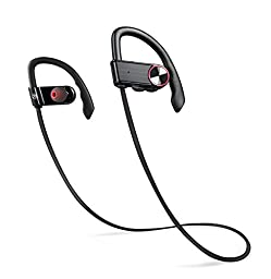 Bluetooth Headphones, Aumax L308 Wireless Bluetooth Headset sport With Mic for Cell Phones-Black