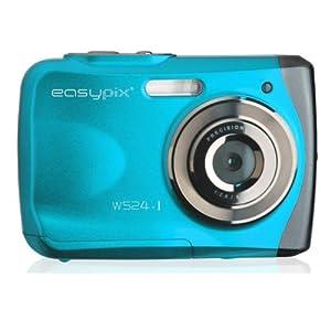 Easypix W524-I Aqua Digitalkamera (5 Megapixels, 6,1 cm (2,4 Zoll) Display, Macro wasserdicht) eisblau