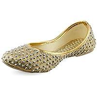 Shoe Lab Golden Mojaris(Sl_goldenjutti_38)-5UK