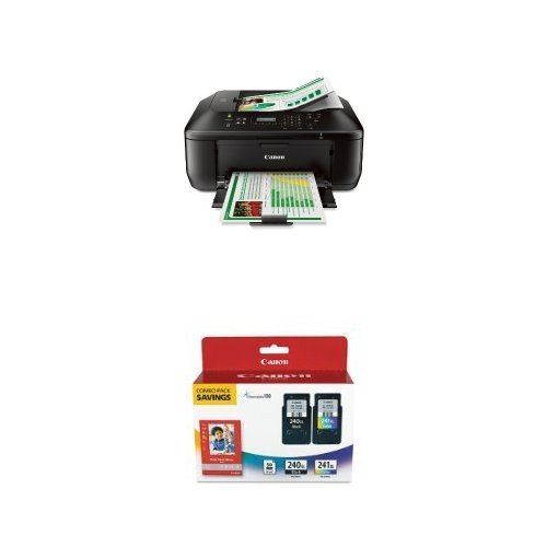 Canon Office Products Mx472 Wireless Office All-In-One Printer With Genuine Canon Ink And Paper Combo Pack