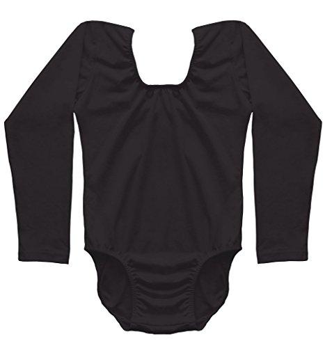 Dancina Girls 39 Leotard Classic Long Sleeve Cotton And
