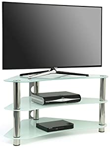 Cheap  Centurion Supports GT7  Contemporary 26″-42″ OLED/ LCD/ Plasma/ LED Corner  Glass TV Stand